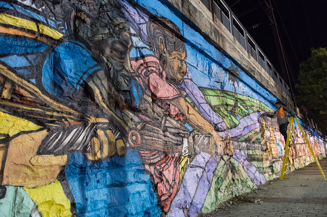 New Jersey's Route 21 and the Longest Mural on the East Coast